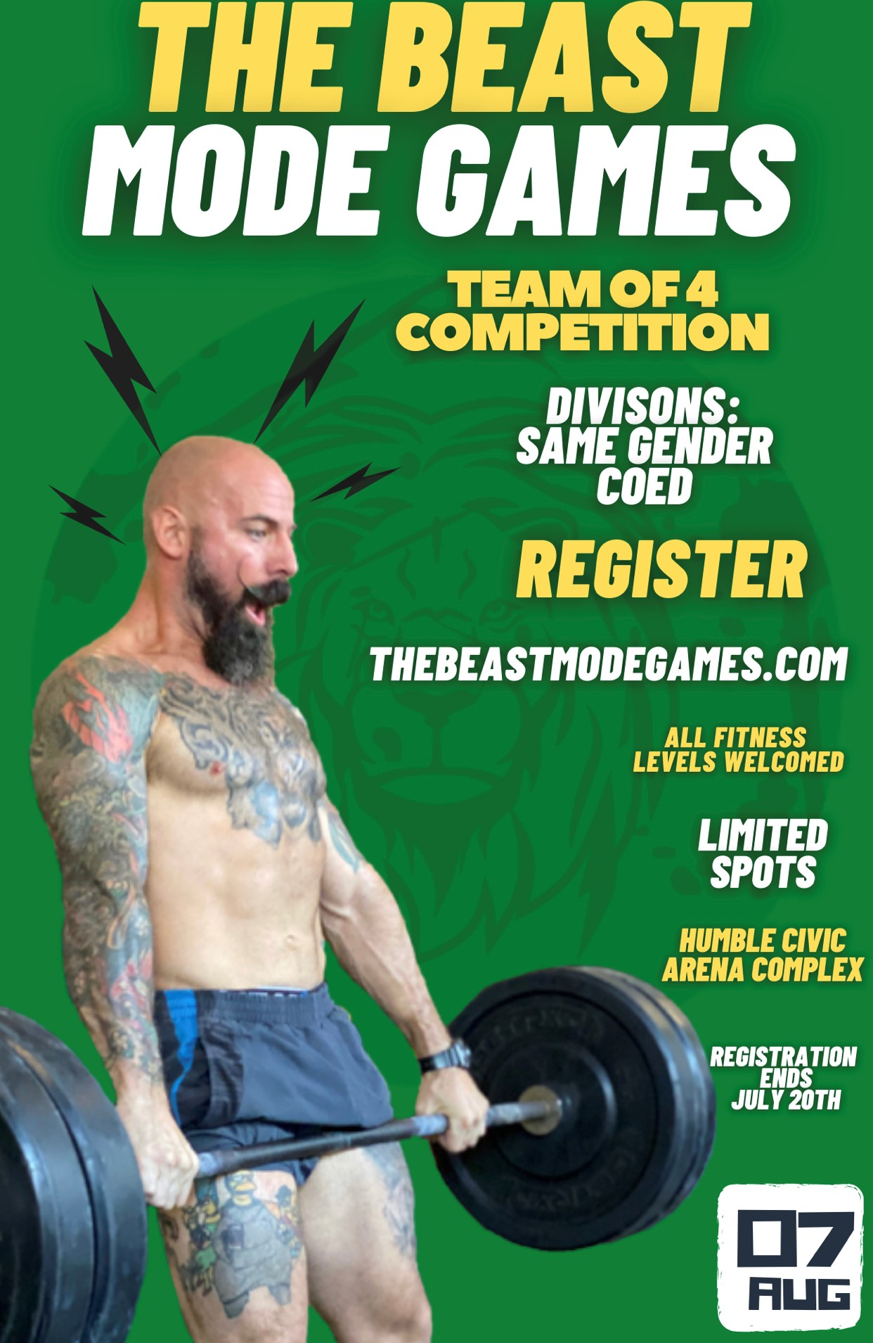 THE BEAST MODE GAMES FITNESS COMPETITION
